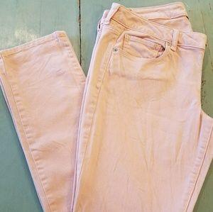 AE pink skinny jeans
